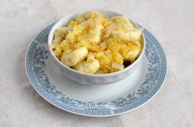 Ленивые вареники с картошкой и луком