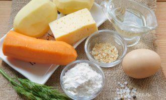 Картофельные лепешки - ингредиенты с сыром