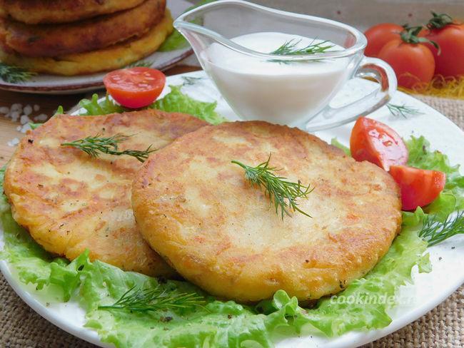 Картофельные лепешки с сыром на сковороде - рецепт