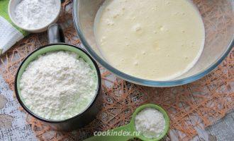Лимонный кекс -замешиваем тесто