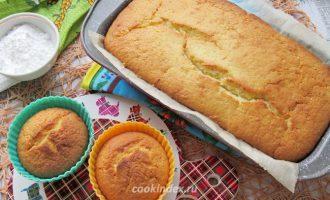 Лимонный кекс - достаем из духовки