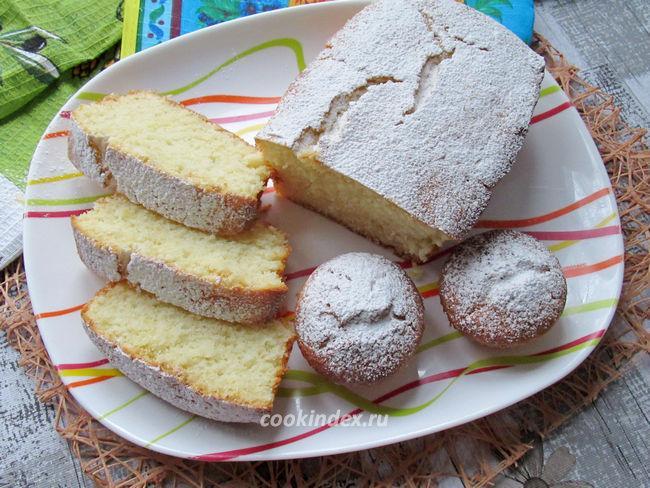 Лимонный кекс с кокосовой стружкой