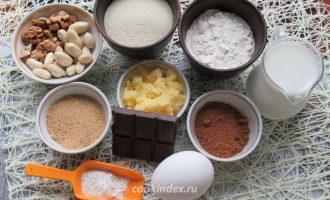 манник на молоке - ингредиенты