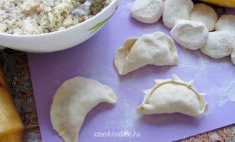 Вареники с картофелем и шампиньонами - начинка с шампиньонами и картошкой - рецепт
