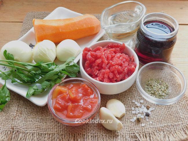 Соус болоньезе с фаршем - ингредиенты