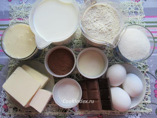 Торт Птичье молоко с манкой - ингредиенты