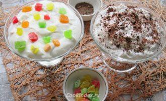 Творожное суфле с желатином без выпечки - рецепт