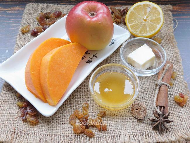 Тыква с яблоками запеченная в духовке - ингредиенты
