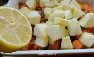 Тыква с яблоками запеченная в духовке