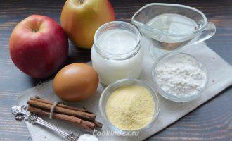 Яблоки в кляре - ингредиенты