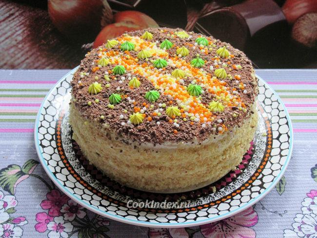 Бисквитный торт с кремом в мультиварке