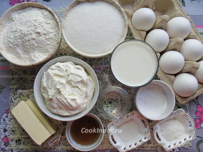 Бисквитный торт в мультиварке - ингредиенты