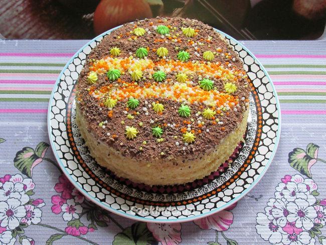 Бисквитный торт в мультиварке - рецепт