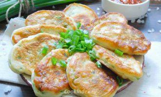 оладьи с зеленым луком - рецепт