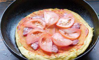 Быстрая пицца на сметане на сковороде