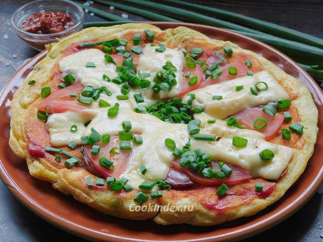 Пицца на сметане на сковороде