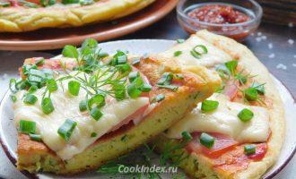 Пицца на сметане на сковороде - рецепт